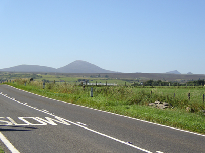 The Mountains of Scarben, Morven and the Maiden Pap, viewed from the A9 Road North of Dunbeath looking South (This view will be destroyed by the proposed Wind Turbine Farm on the Braemore Road and Wag Hill).